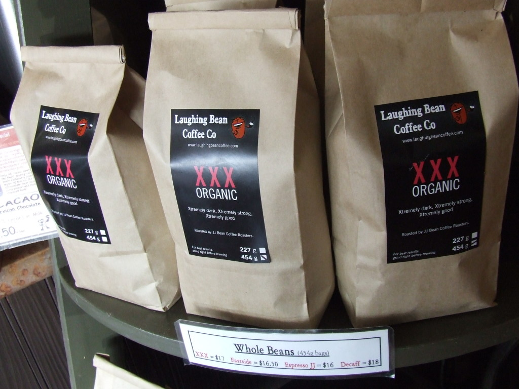 Laughing Bean serves and sells organic JJ Bean roasted coffee beans
