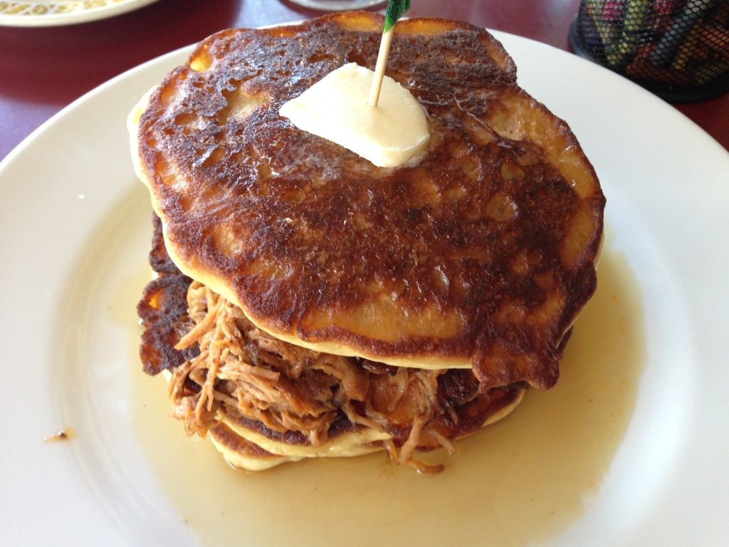 Red Wagon - Pulled Pork Pancakes