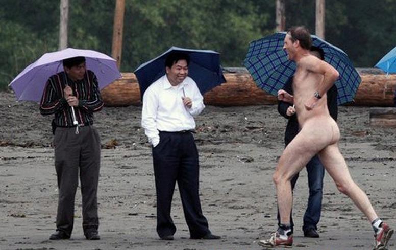 Asian Tourists at Wreck Beach