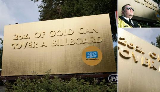 Science World Gold Billboard