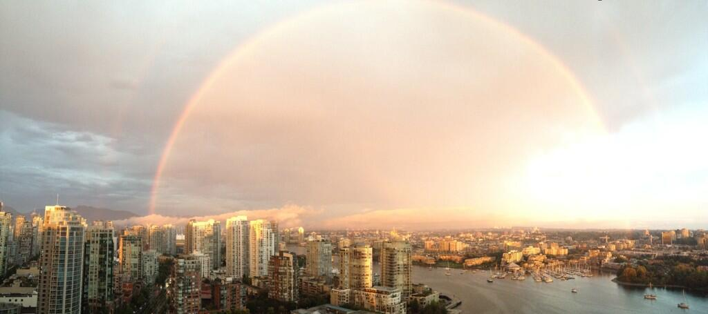 Vancouver storm rainbow