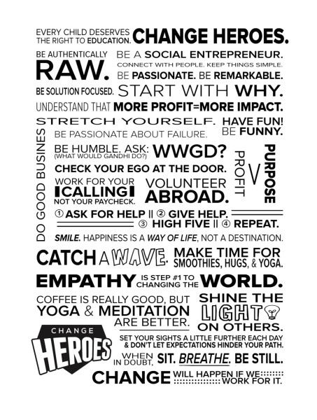Change Heroes Manifesto