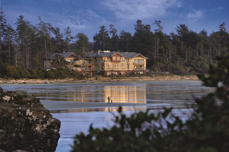 Long Beach Lodge Resort View from Beach Low Tide - Vince Klassen
