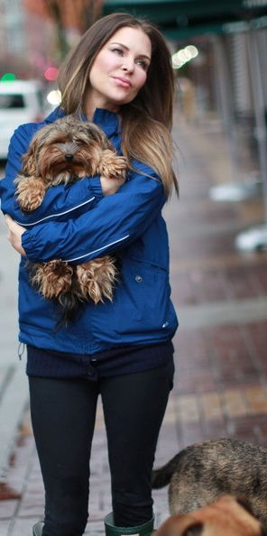 Mary Zilba and dog