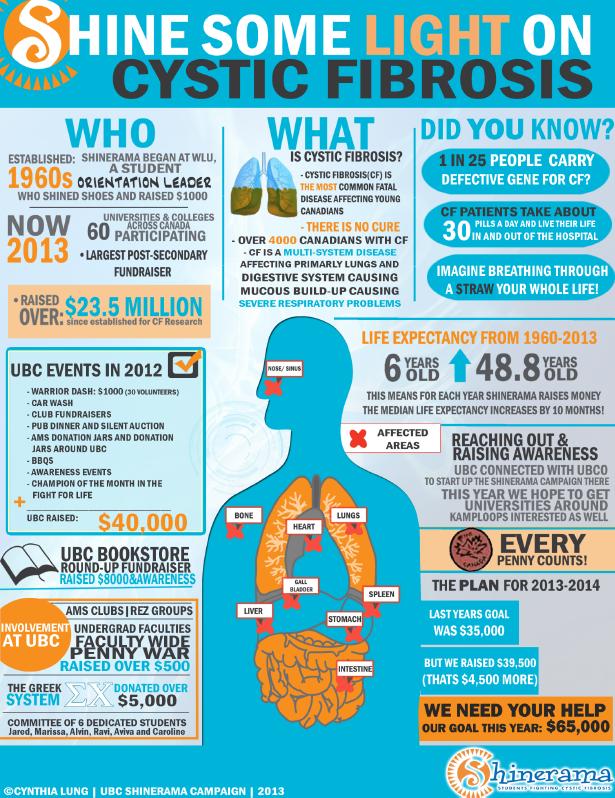 Shinerama UBC 2013 Infographic