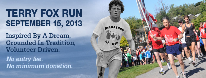 terry fox run 2013 banner