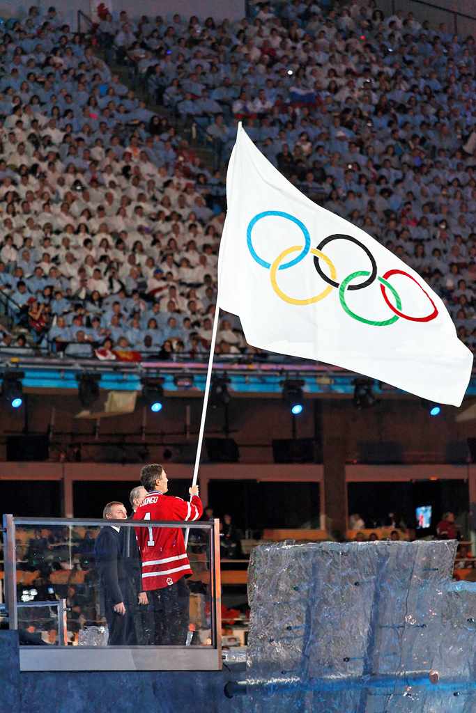 Gregor Robertson Olympic Flag