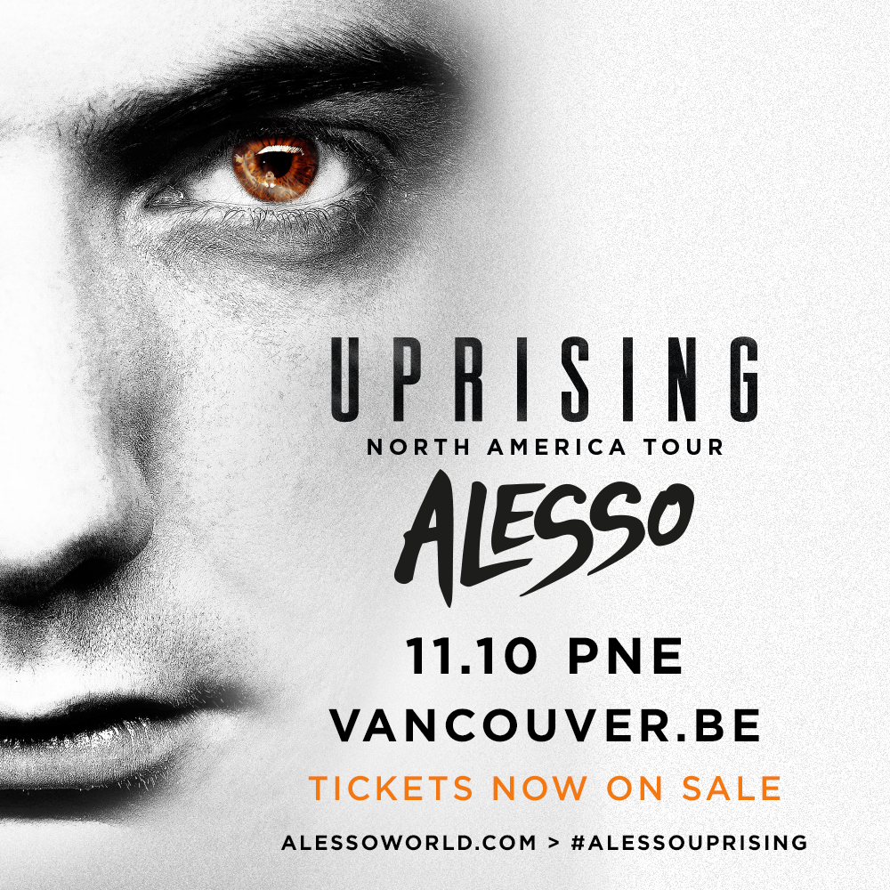 Alesso Uprising Vancouver Tour