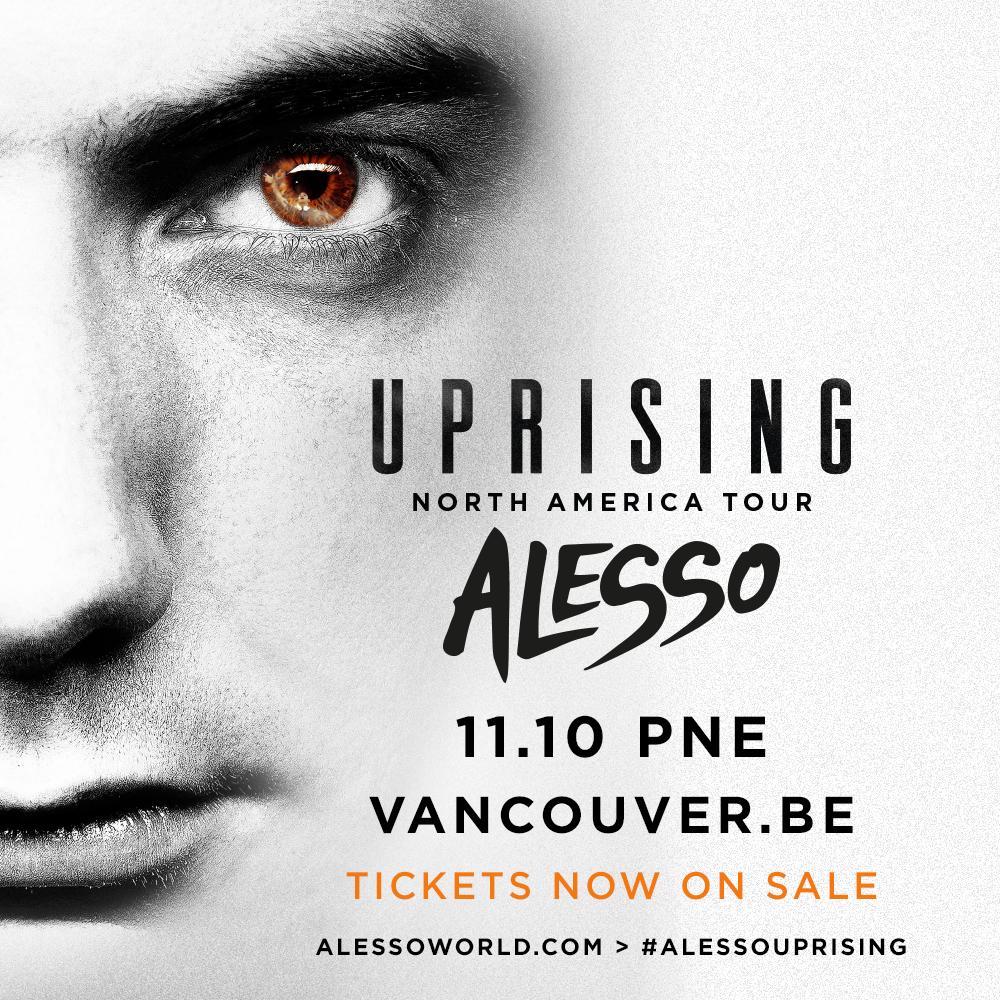 Alesso Uprising Vancouver Tour