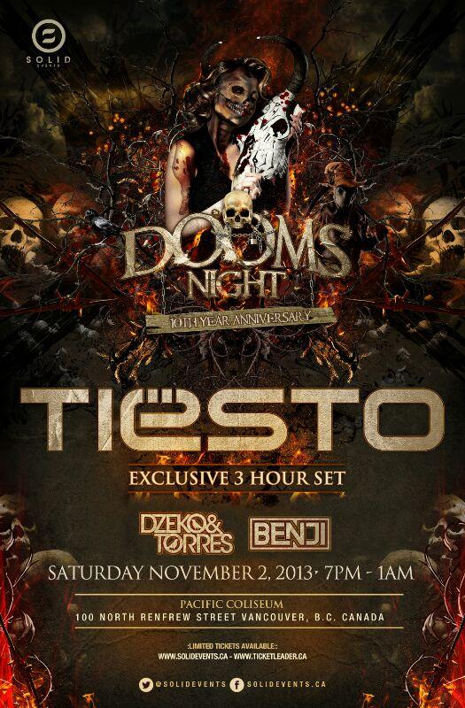 Tiesto Dooms Day 2013 Reschedule