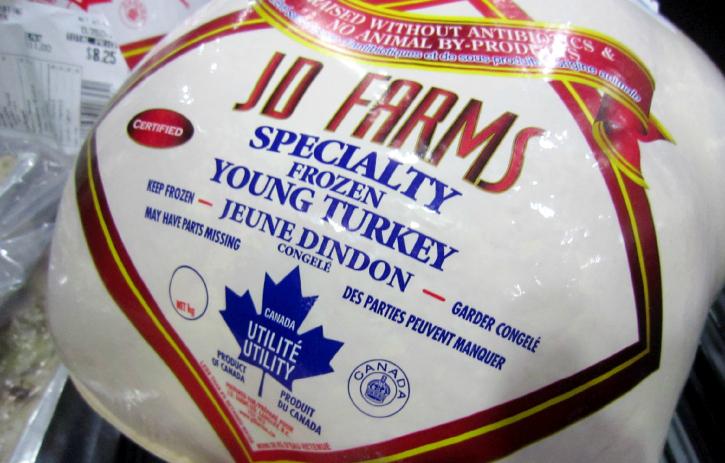 A JD Farms turkey.
