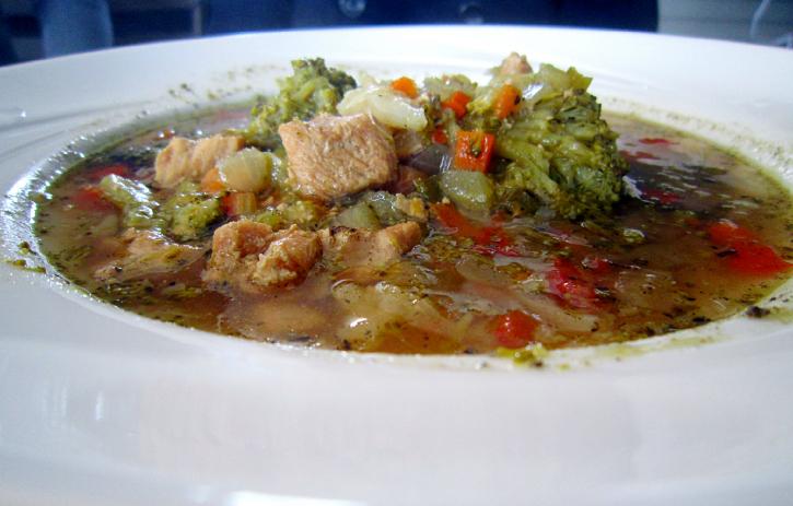 An incredible bowl of JD Farms turkey soup.