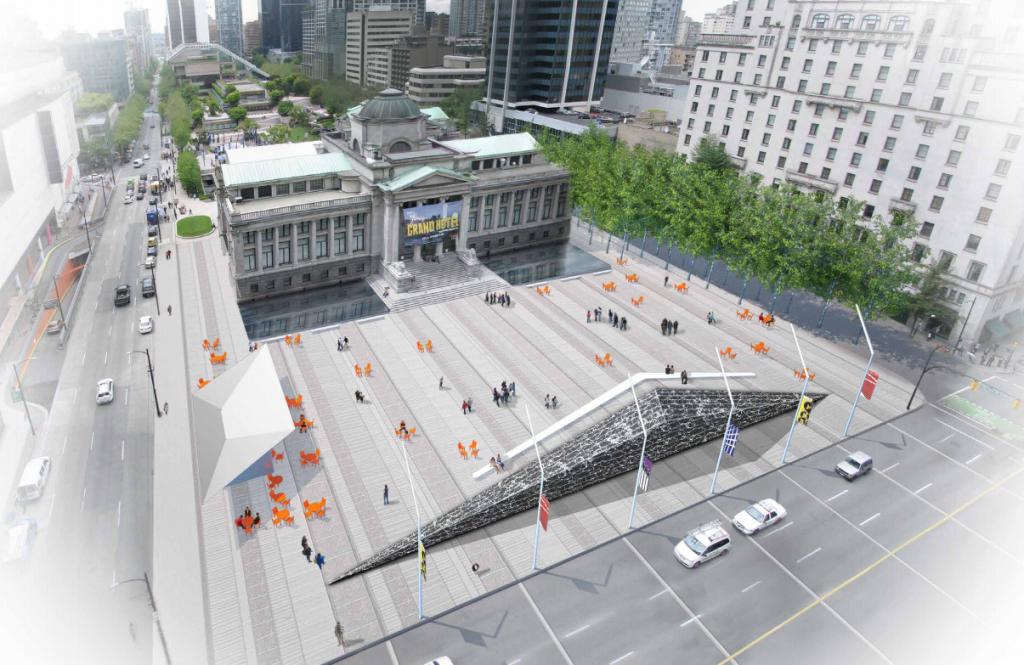 Vancouver Art Gallery Plaza