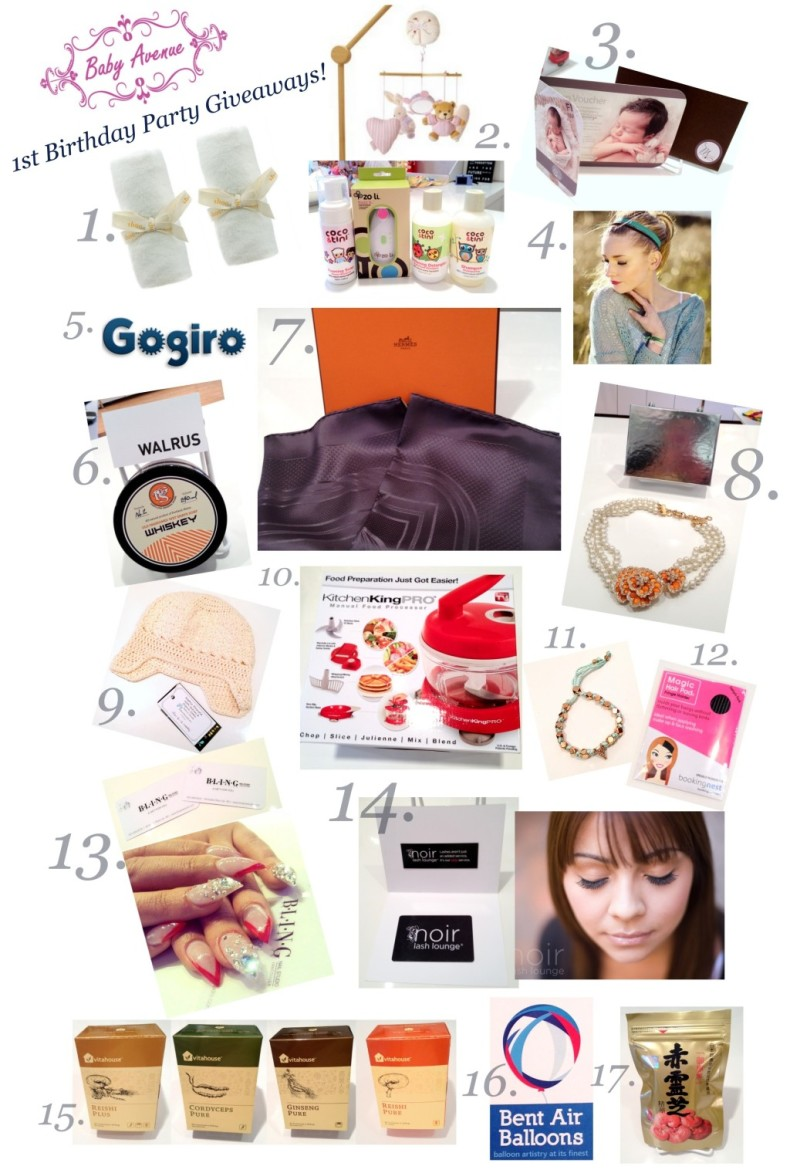 Sponsors' Giveaways Collage