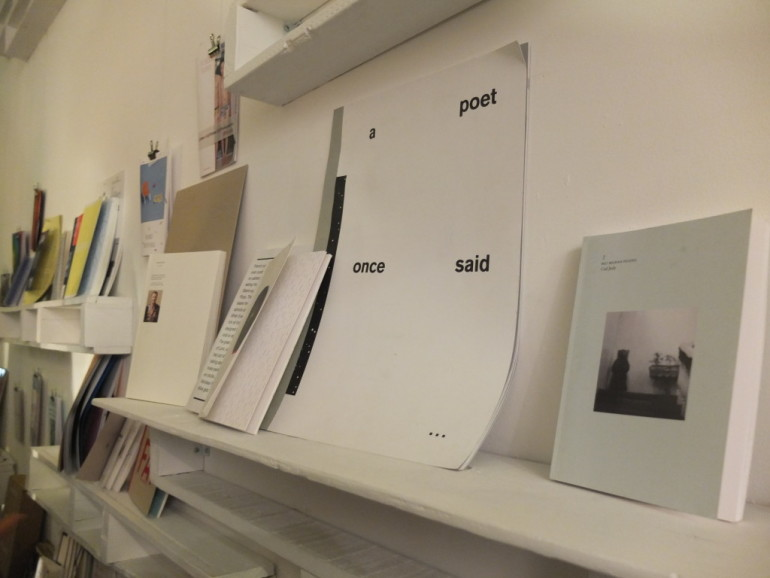 Some of the zines on display at Project Space, where the Vancouver Art/Book Fair was launched on Friday.