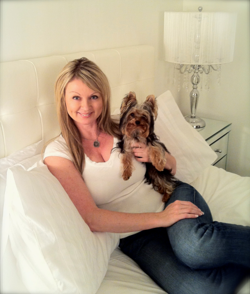 The Rush host Fiona Forbes strikes a pose with her dog Chewy.