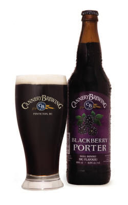Blackberry Porter btl wet w.glass