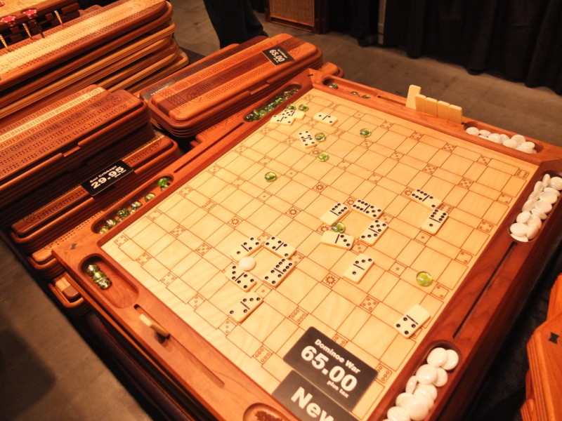 Michaud Toys, from Jarvis, Ontario, uses eco-friendly Canadian hardwoods to make its board games.