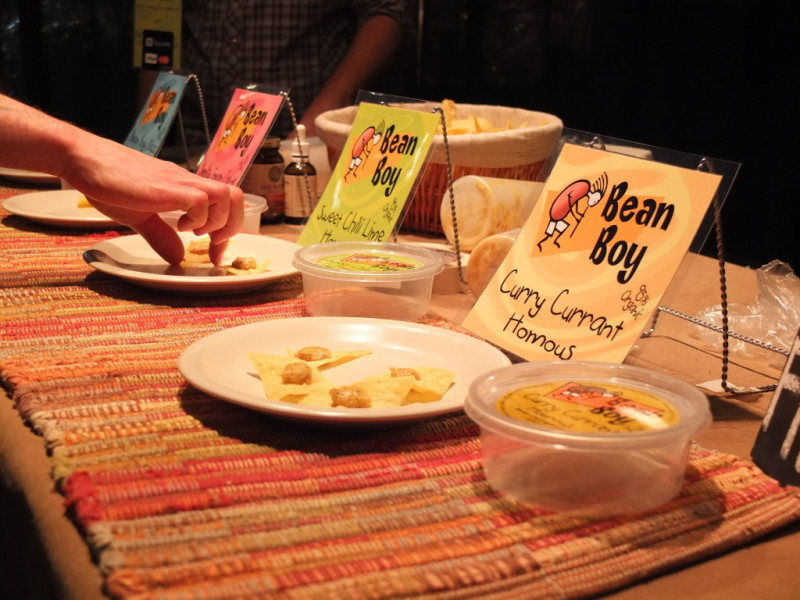 Curry currant hummus was just one of the tasting samples on offer from Bean Boy Creations, from West Kelowna, B.C.