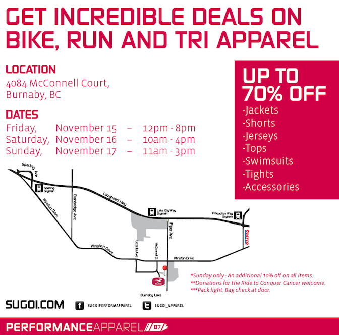 sugoi warehouse sale