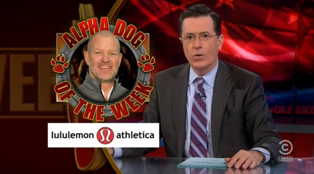 Lululemon Chip Wilson The Colbert Report Stephen Colbert