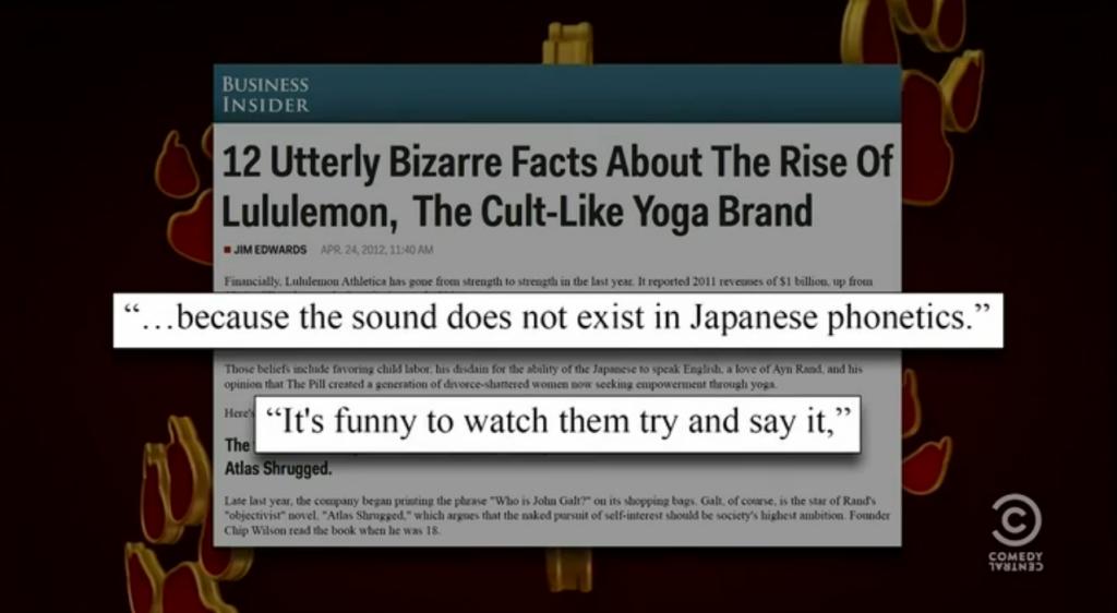 Lululemon Chip Wilson The Colbert Report Stephen Colbert