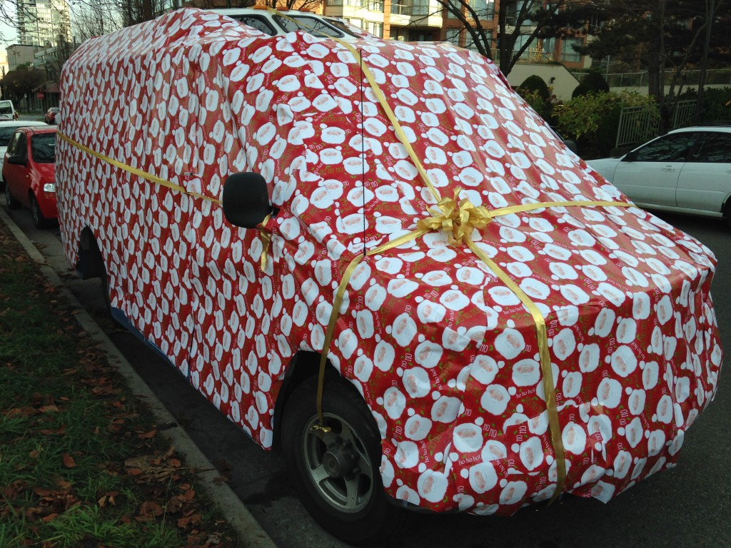 vancouver gift wrapped car