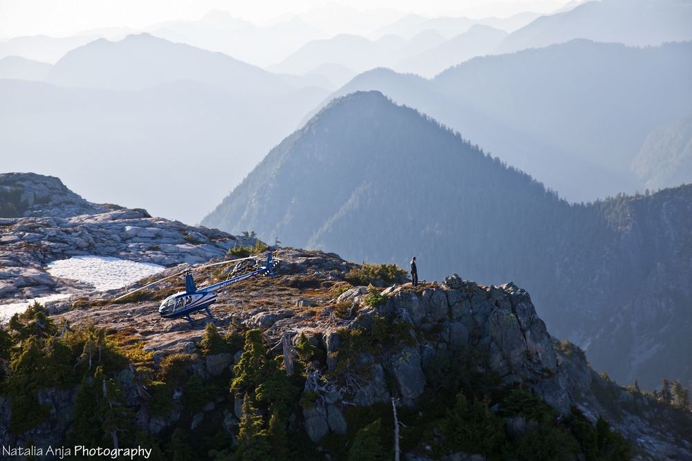Helicopter Marriage Proposal Vancouver Mountaintop