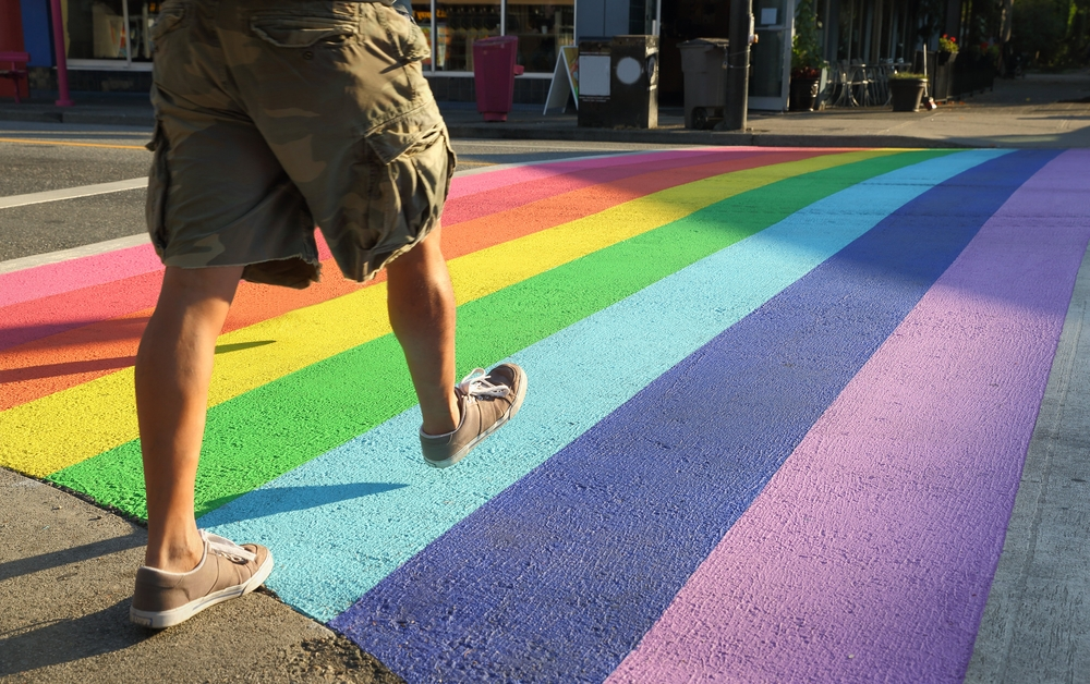 Rainbow Crosswalk LGBT / Shutterstock