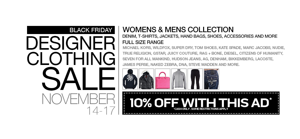 black friday sample sale 2013