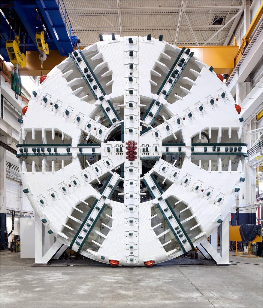 SkyTrain Evergreen Line tunnel boring machine tbm
