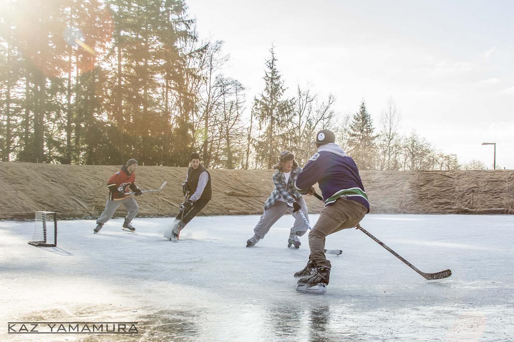 SFU pond hockey