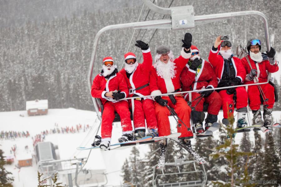 Santa Claus Whistler Blackcomb Christmas