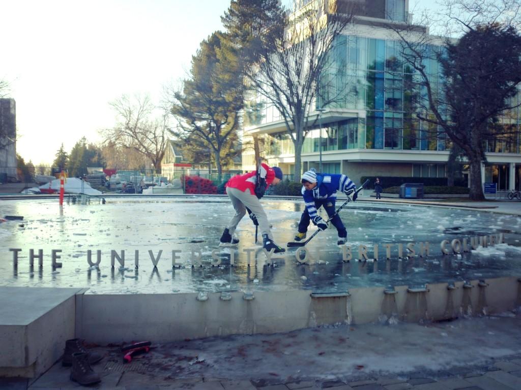 UBC ice pond hockey