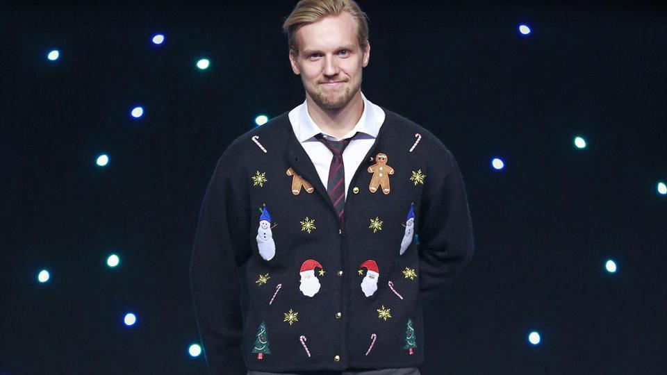 Canucks ugly sweater Alex Edler