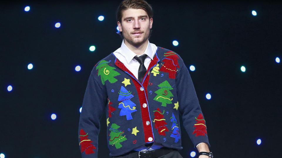 Canucks ugly sweater Chris Tanev