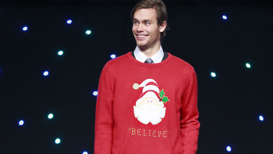 Canucks ugly sweater Eddie Lack