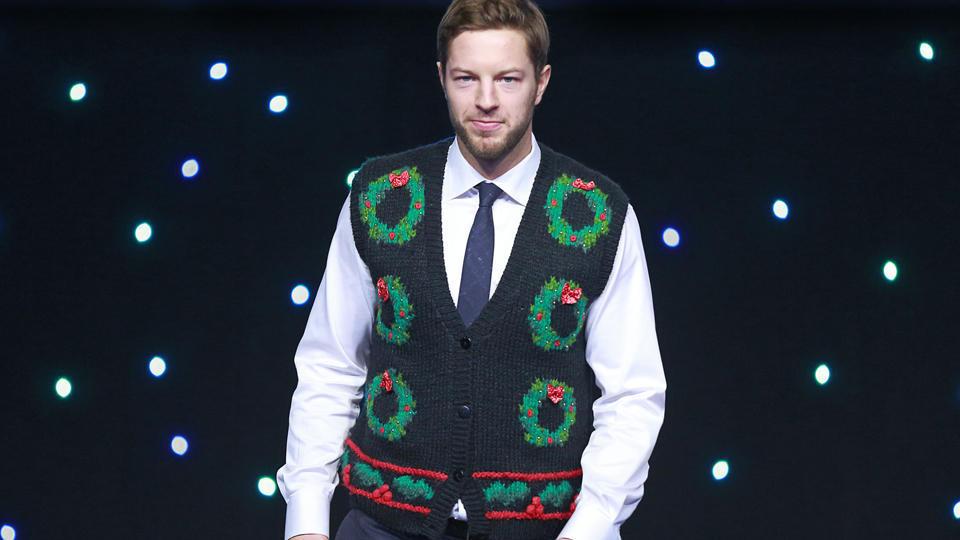 Canucks ugly sweater Jeremy Walsh