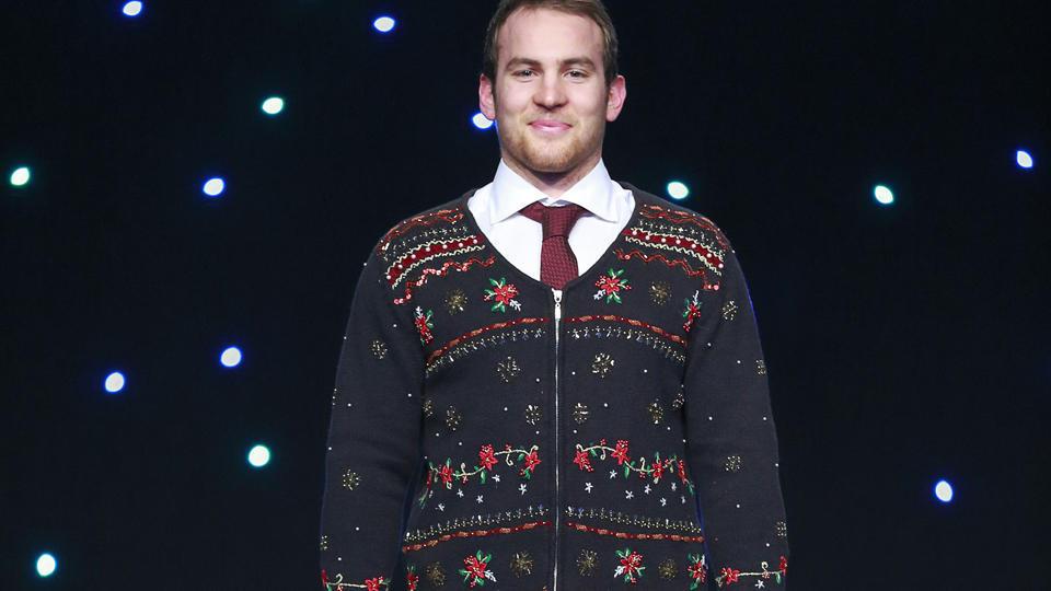 Canucks ugly sweater Yannick Weber