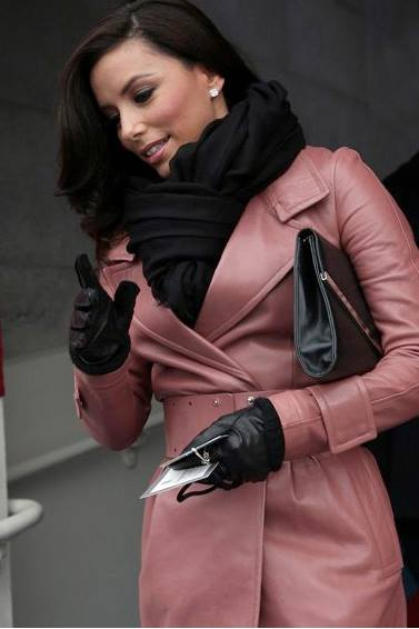 Eva Longoria at the Presidential Inauguration with the Pacific Heights clutch--celebrities