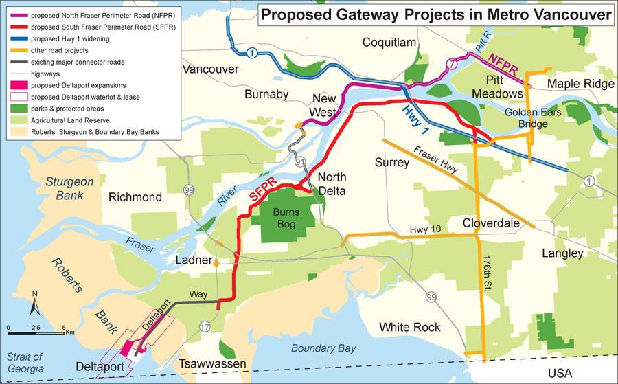 Metro Vancouver highways map