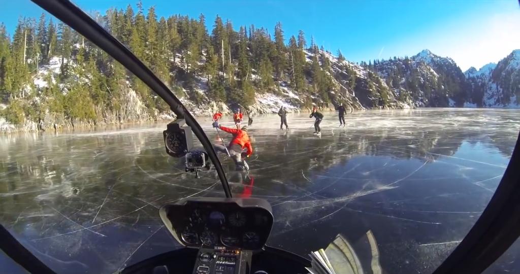 Bradley Friesen helicopter ice hockey