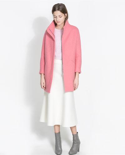 Zara Boucle Coat 1