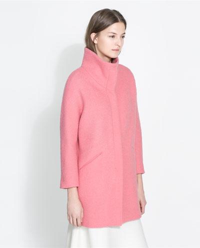 Zara Boucle Coat 2