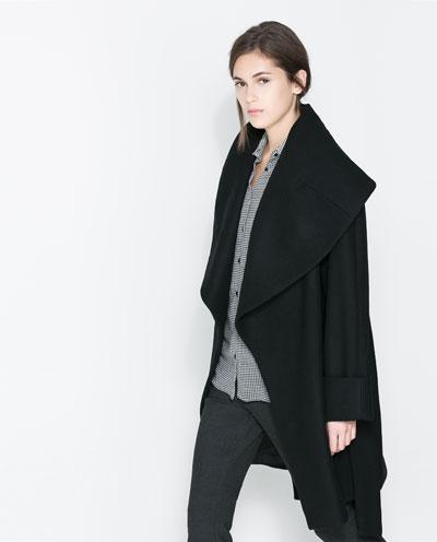 Zara Woollen Wraparound Coat