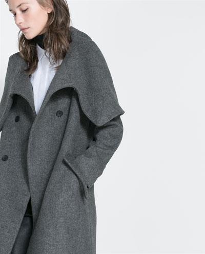 Zara Wraparound Collar Coat