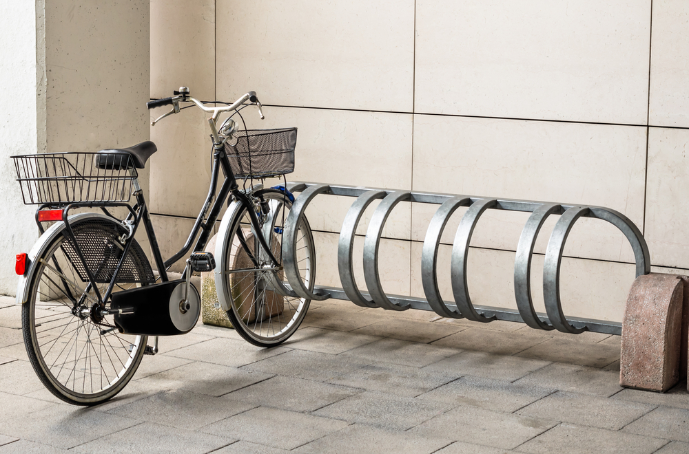 Bike rack bicycle rack stolen / Shutterstock