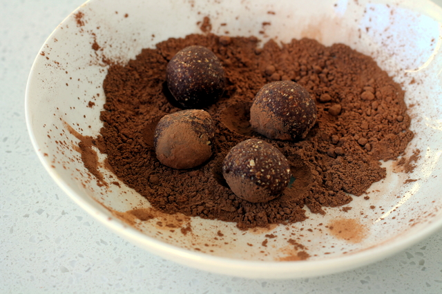 Dairy-Free Caramel Chocolate Truffles
