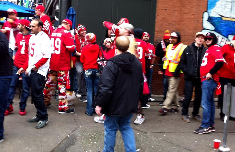 49ers fans in Seattle - Vancity Buzz