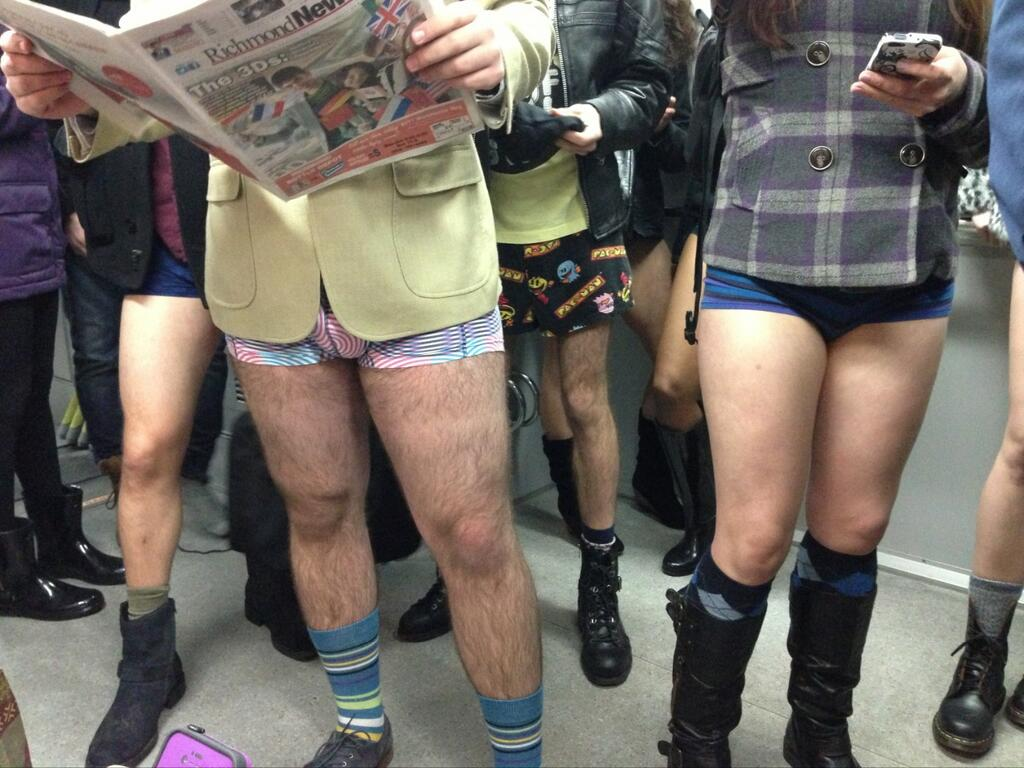 No Pants SkyTrain Ride Vancouver 2014